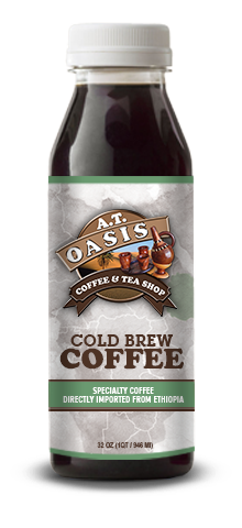 A.T. Oasis Cold Brew Coffee plastic bottle